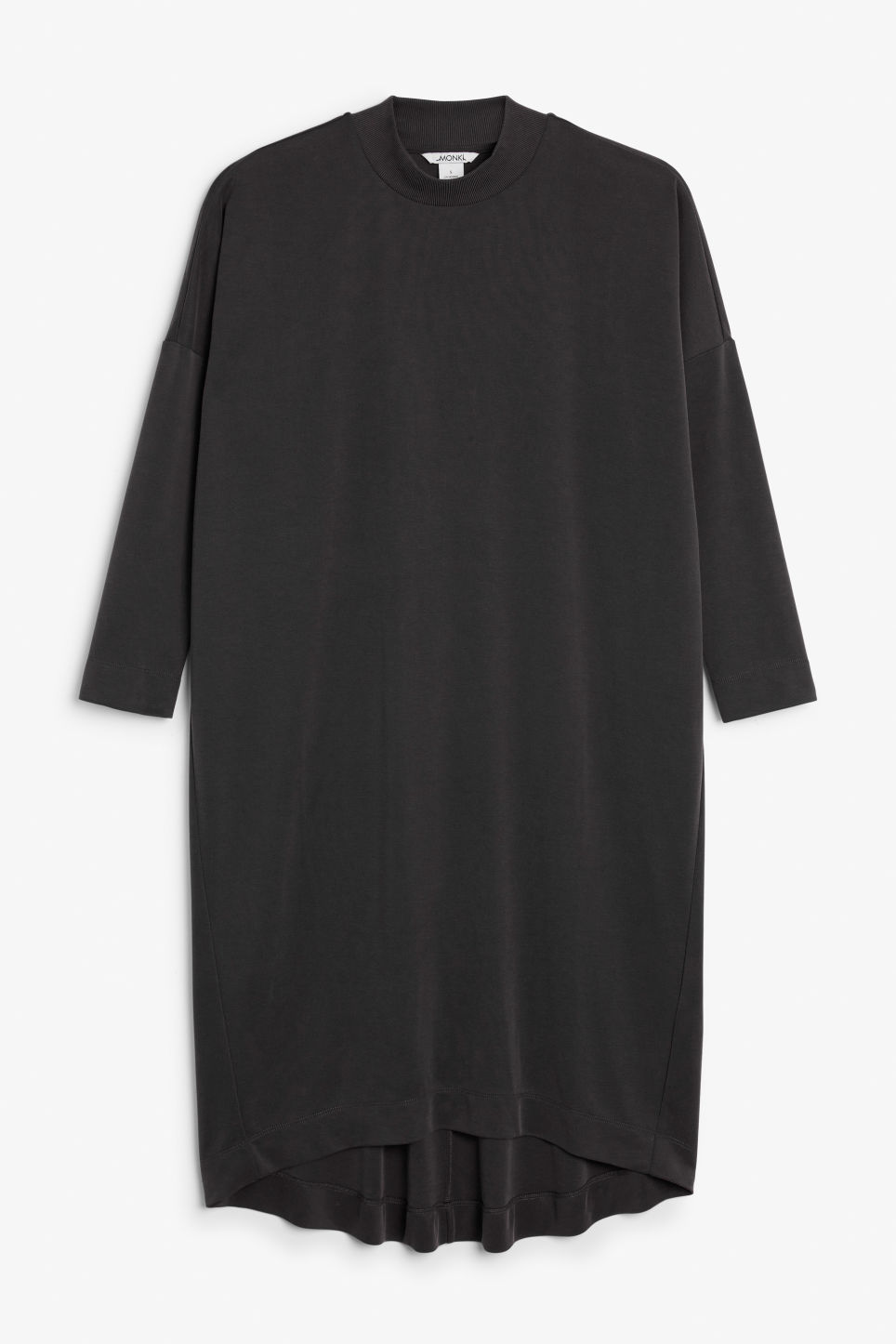 Front image of Monki soft t-shirt dress in black