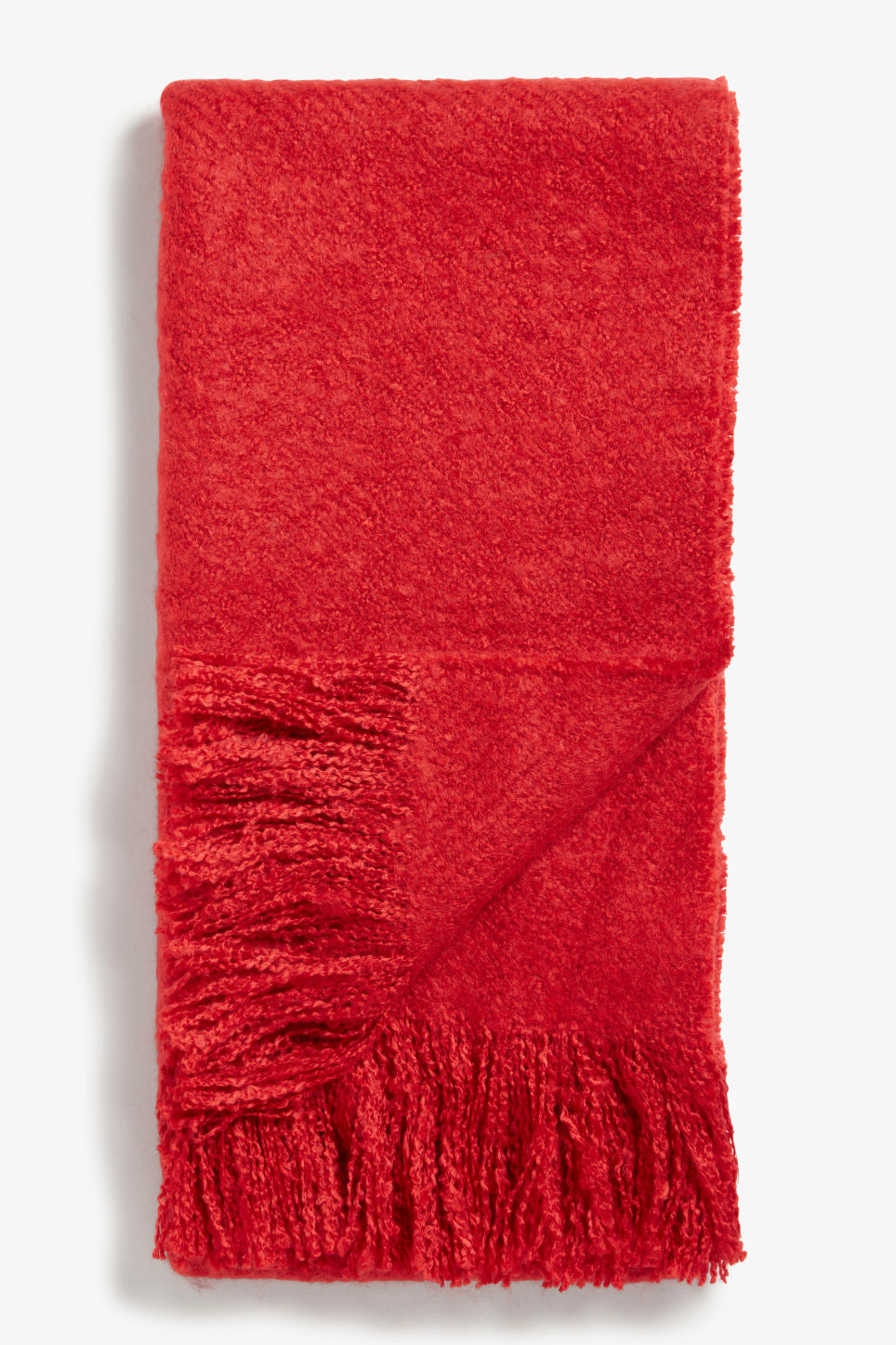 Front image of Monki oversize scarf in red