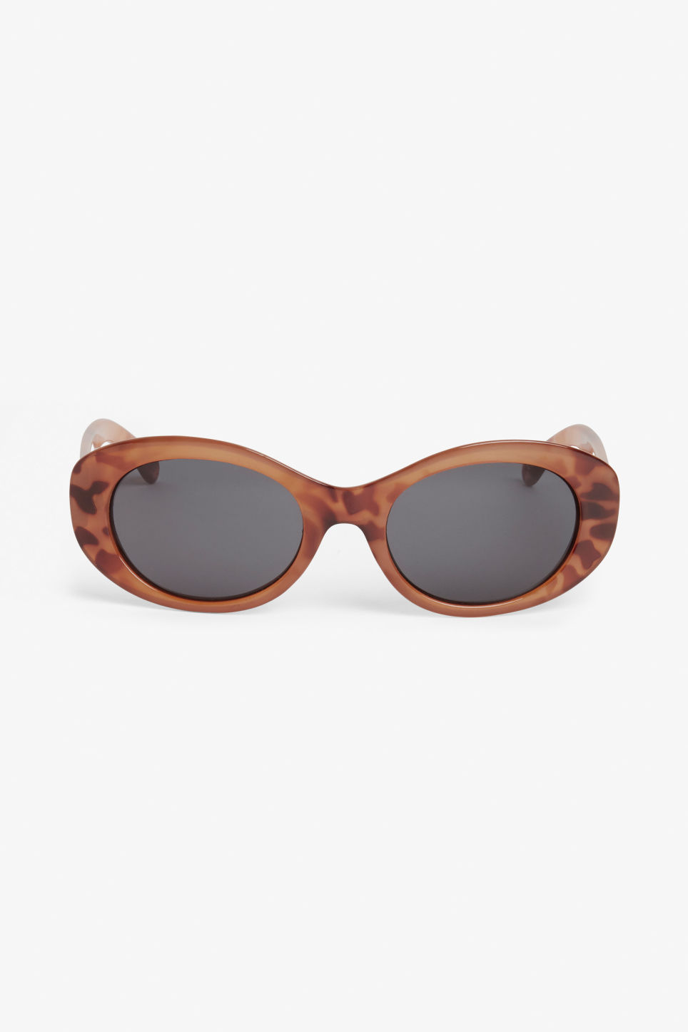 Front image of Monki oval lense shades in orange
