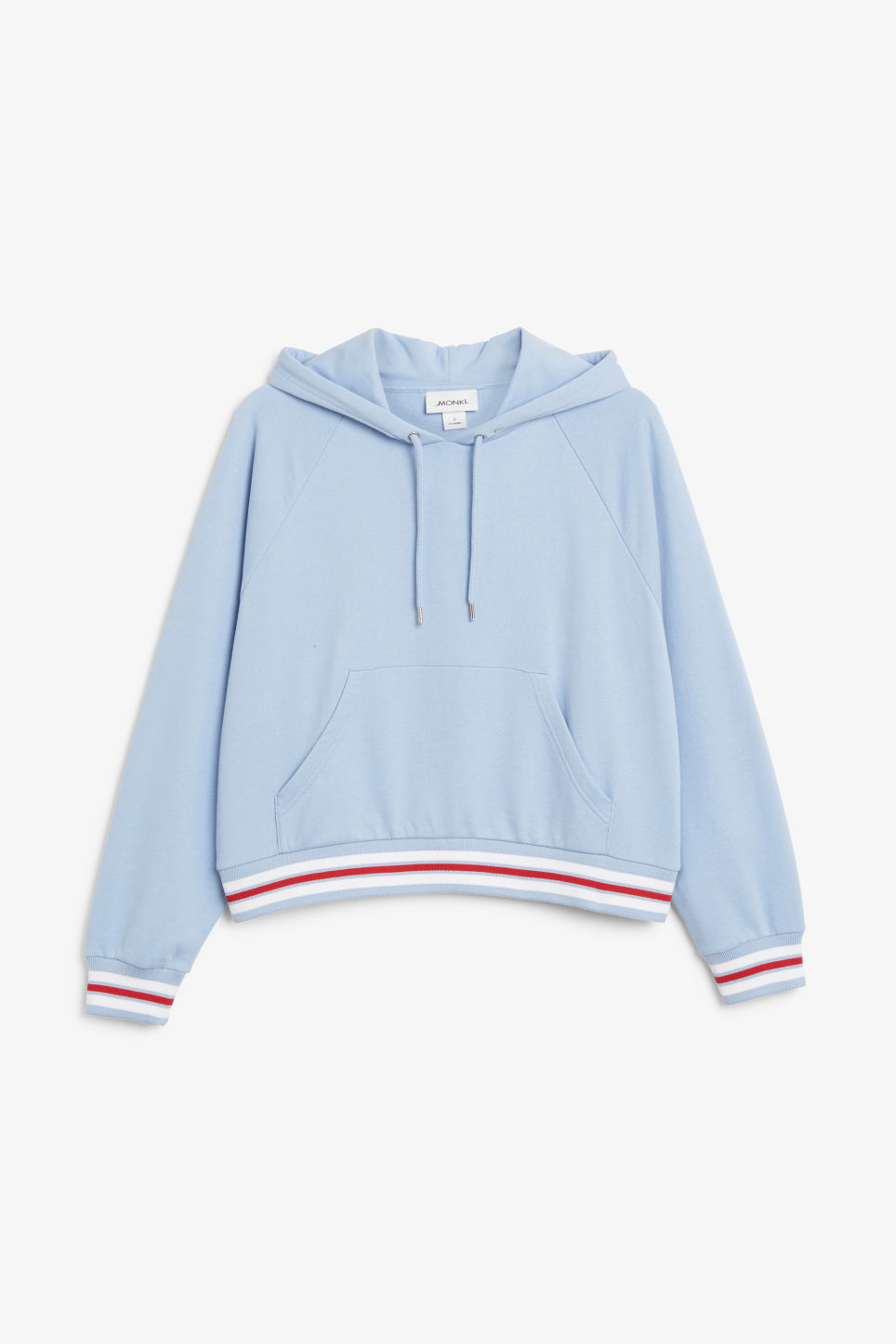 Front image of Monki cropped hoodie in blue