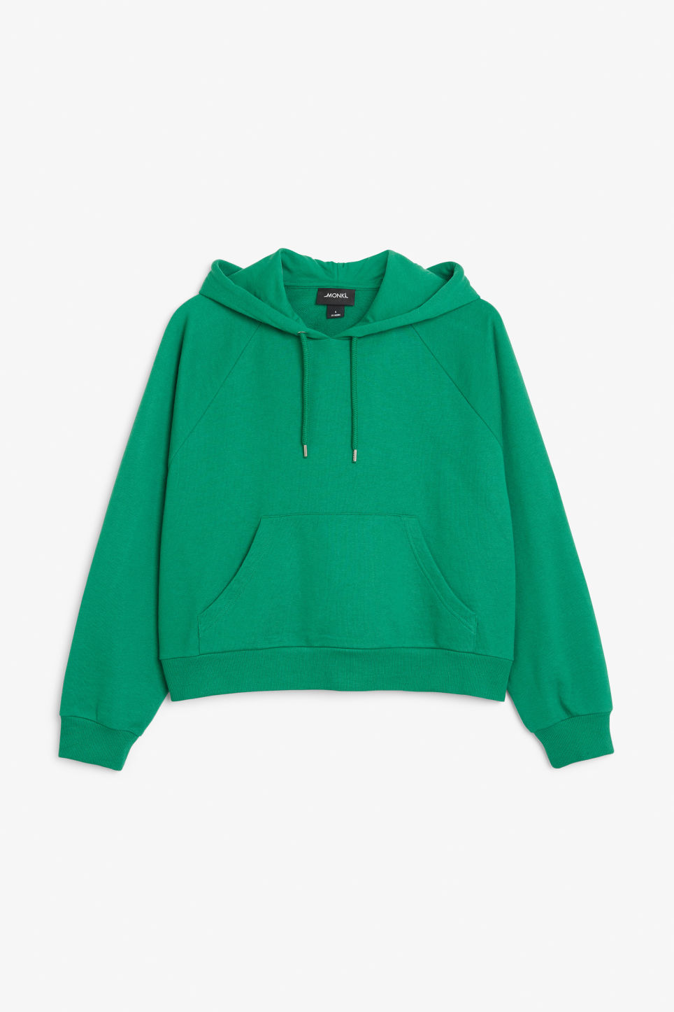 Front image of Monki cropped hoodie in green