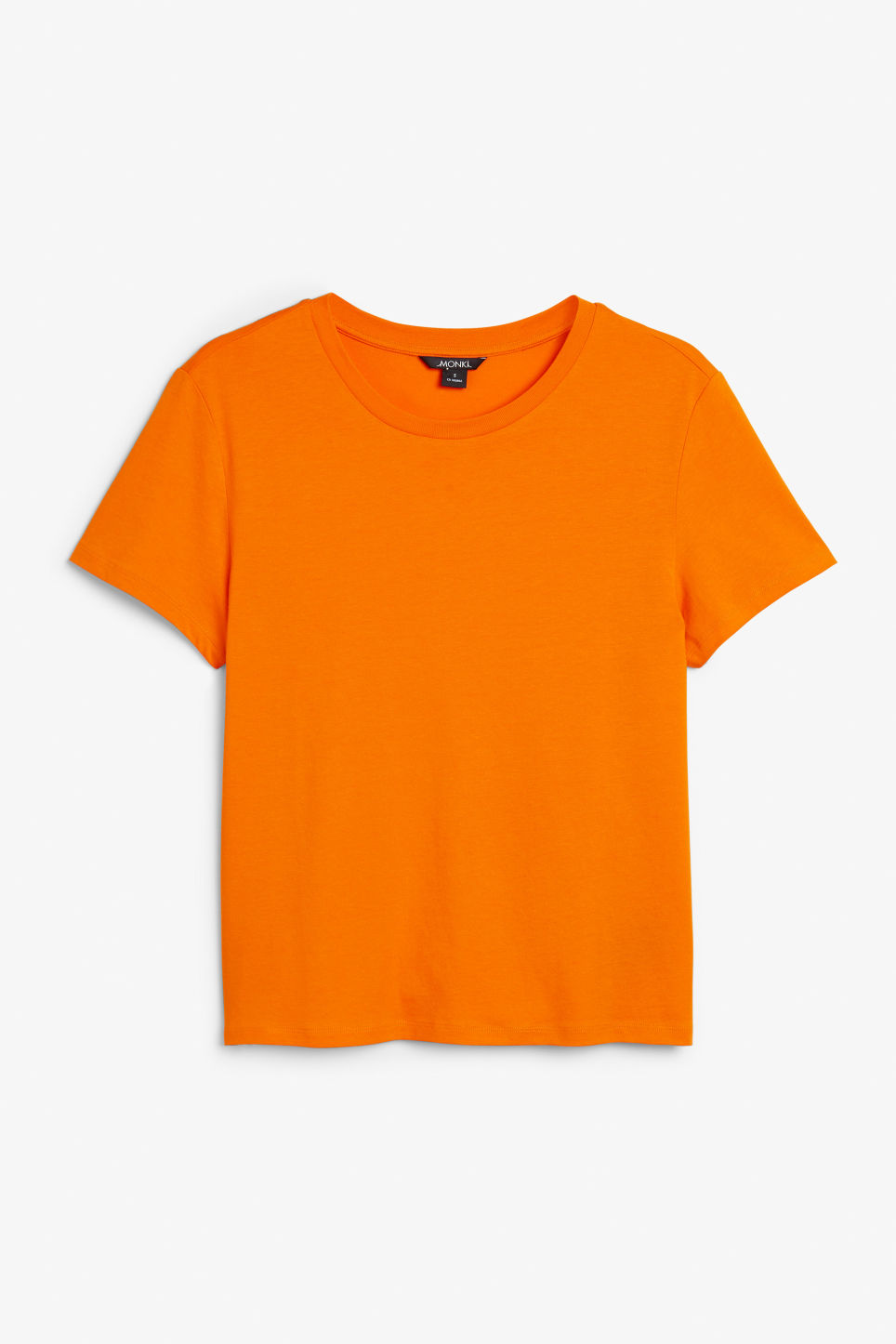 Front image of Monki soft tee in orange