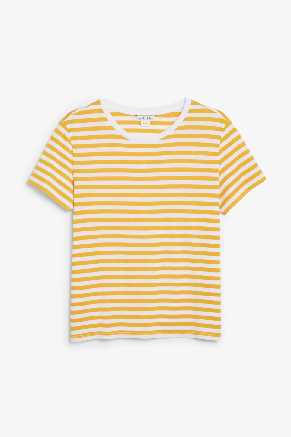 Front image of Monki soft tee in yellow