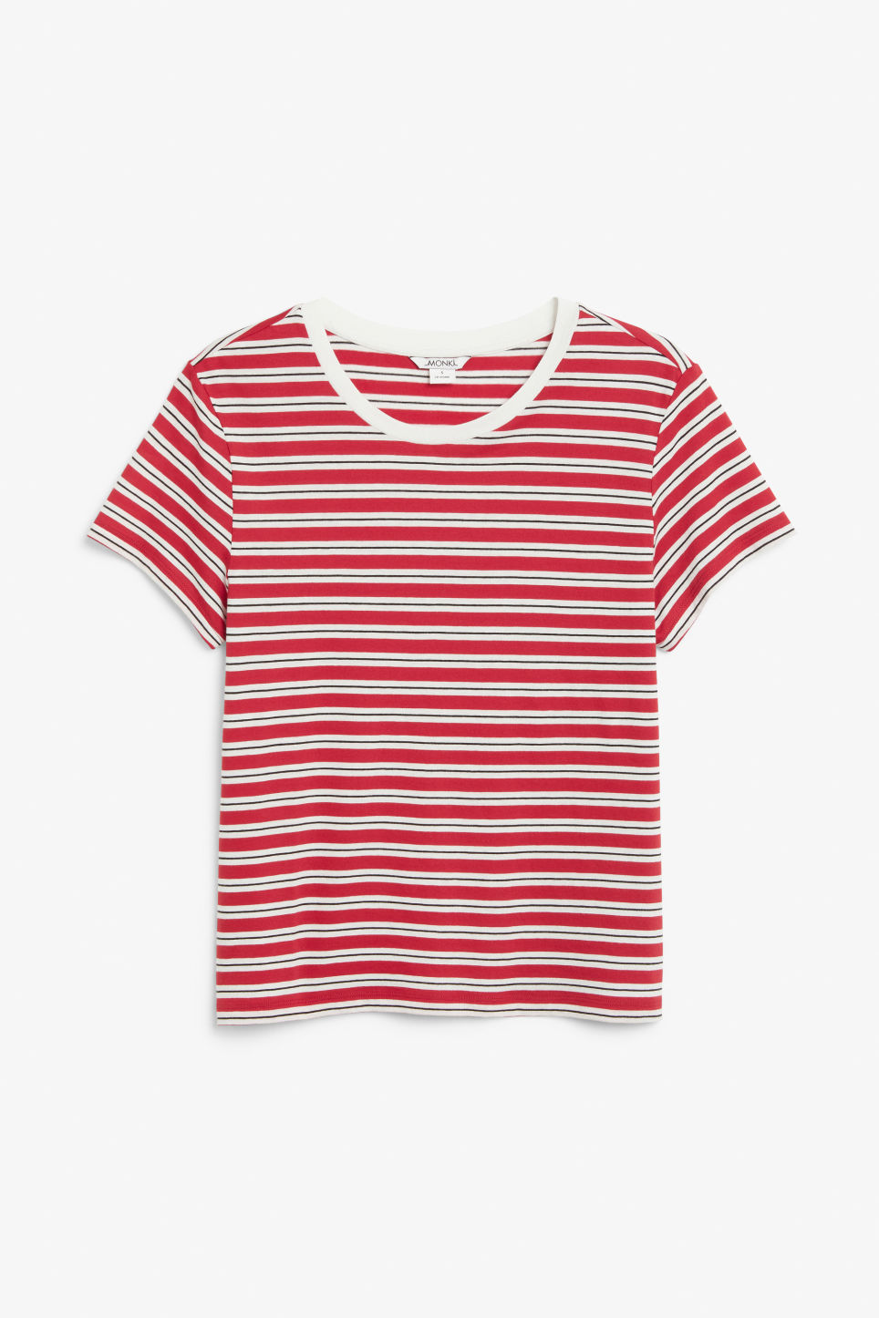 Front image of Monki soft tee in red