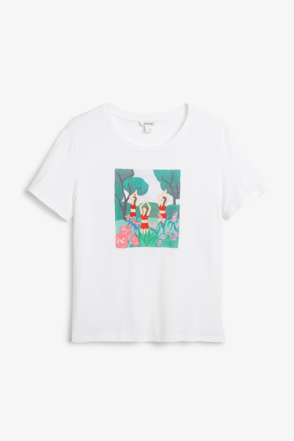 Front image of Monki soft tee in beige