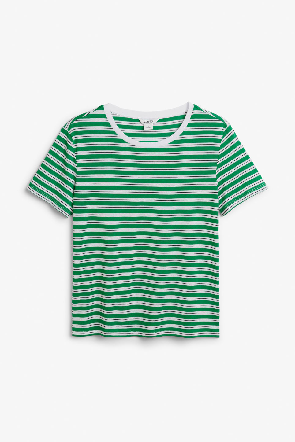 Front image of Monki soft tee in green