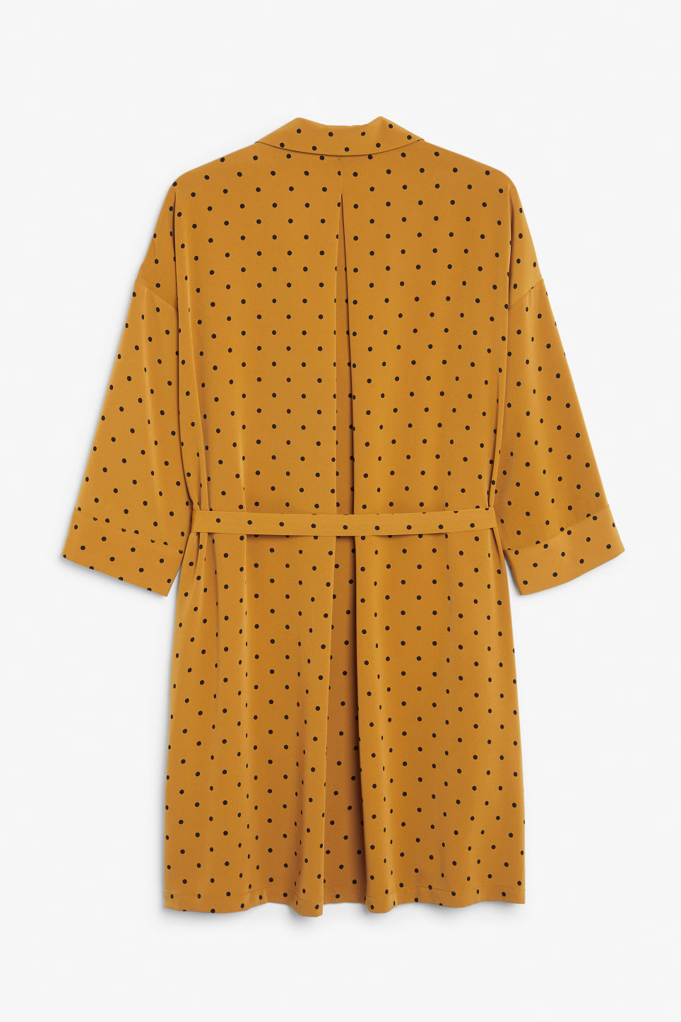 Back image of Monki flowy shirt dress in yellow