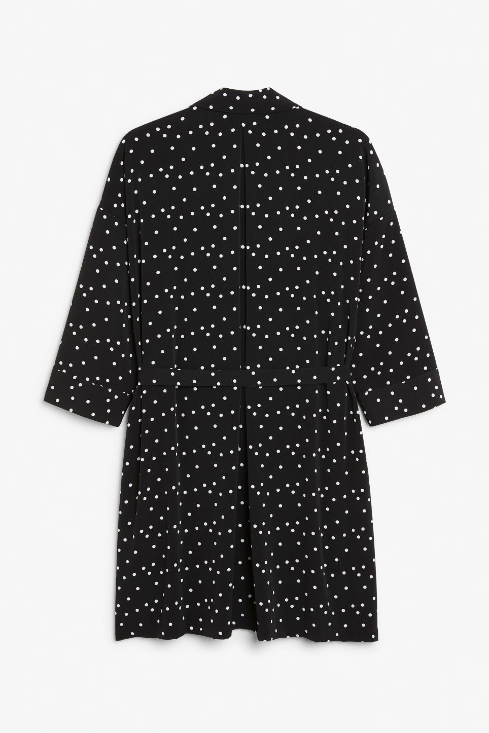 Back image of Monki belted shirt dress in black