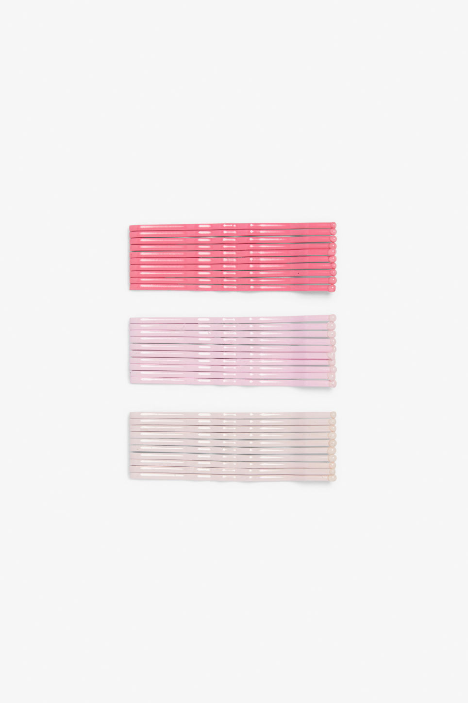 Front image of Monki monki hair pins in pink