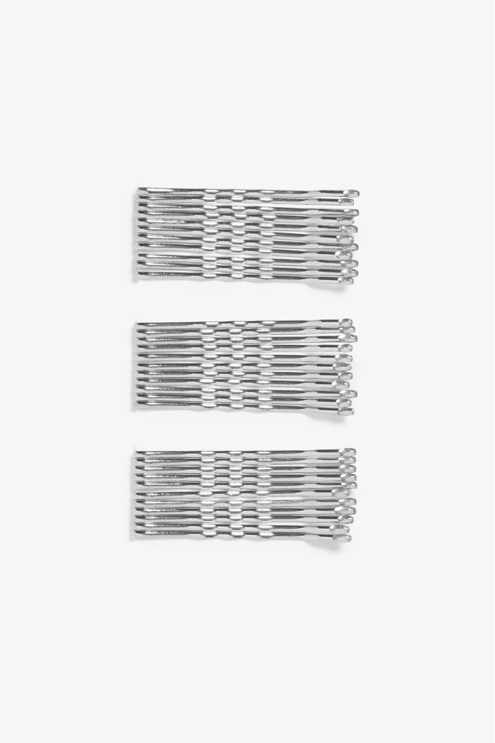 Front image of Monki monki hair pins in silver