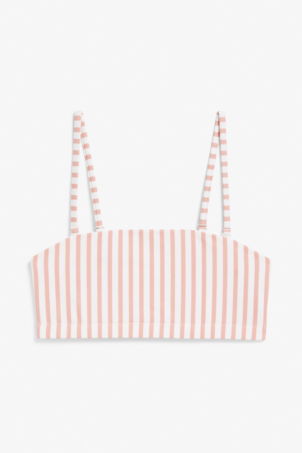 Front image of Monki bandeau bikini top in pink