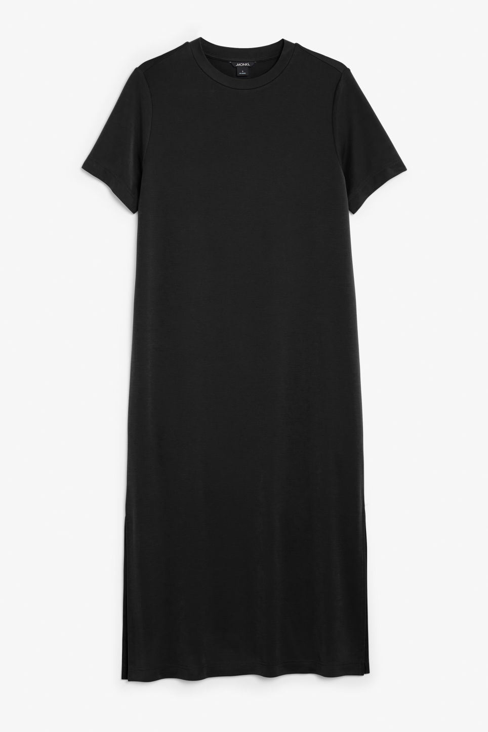 Front image of Monki super-soft t-shirt dress in black