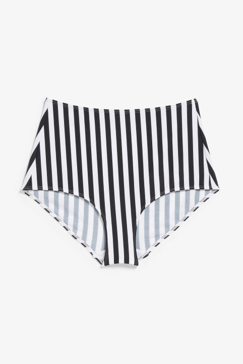 Front image of Monki high-waisted bikini briefs in white