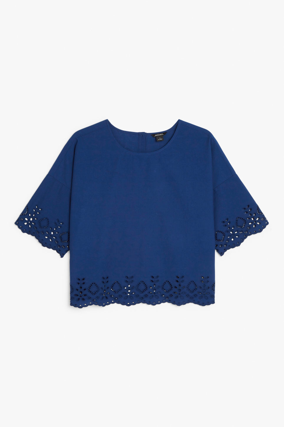 Front image of Monki flowy blouse in blue