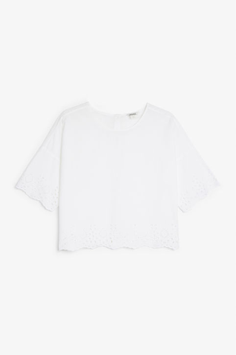 Front image of Monki flowy blouse in white