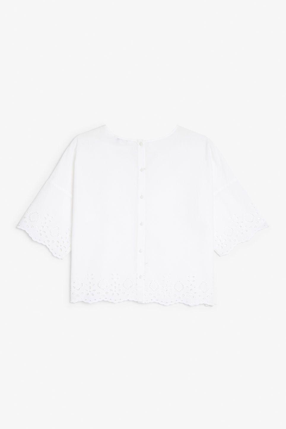 Back image of Monki flowy blouse in white