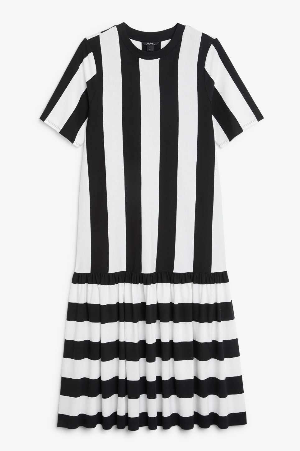 Front image of Monki oversized dress in black