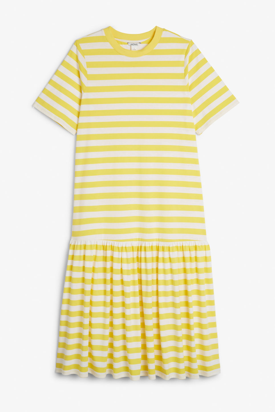 Front image of Monki oversized dress in yellow