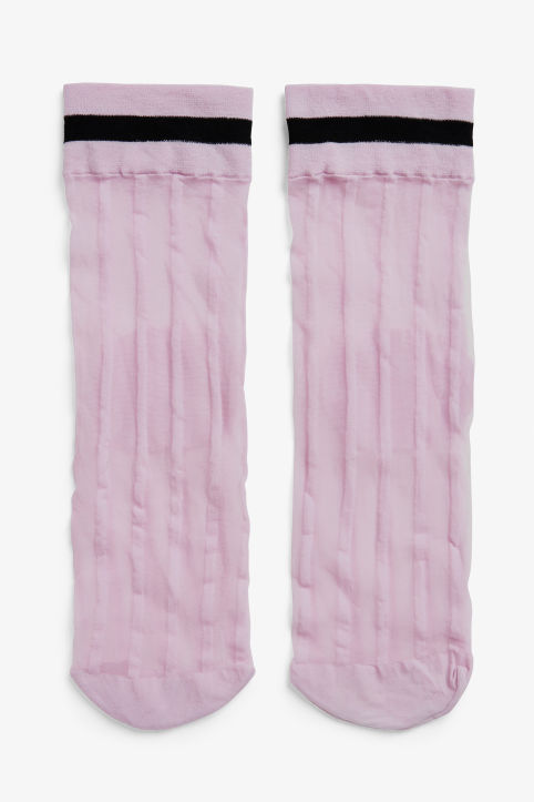Sheer single stripe socks