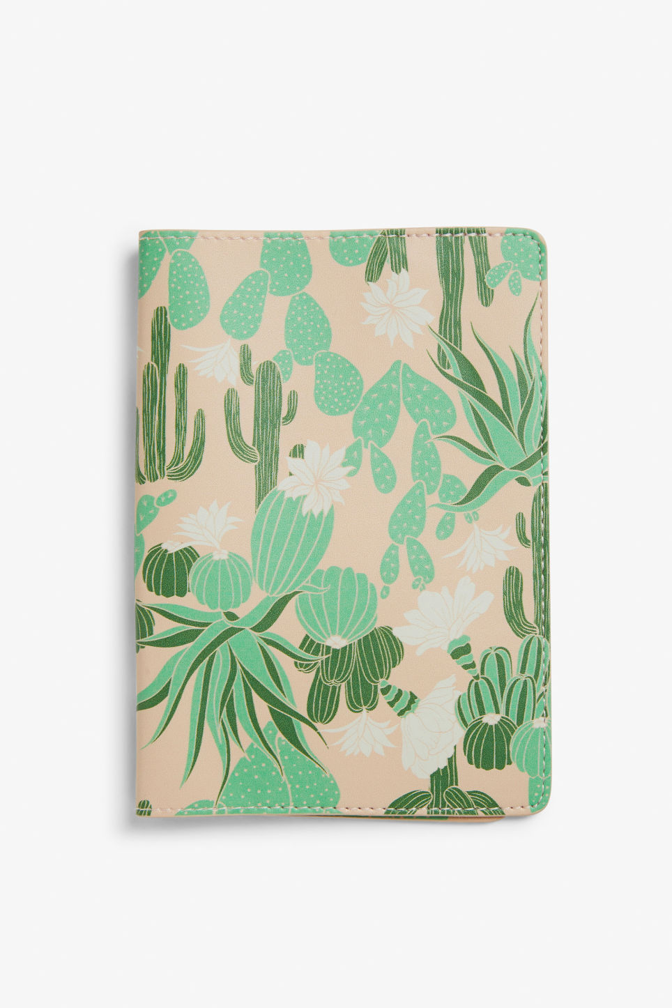 Front image of Monki monki passport case in green