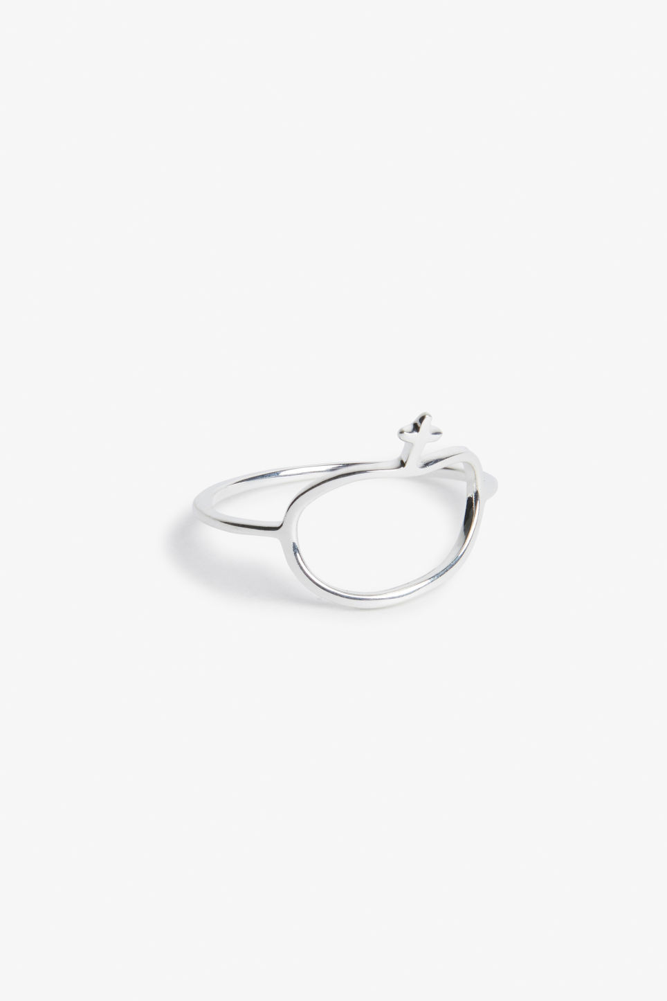 Front image of Monki sterling silver ring in silver