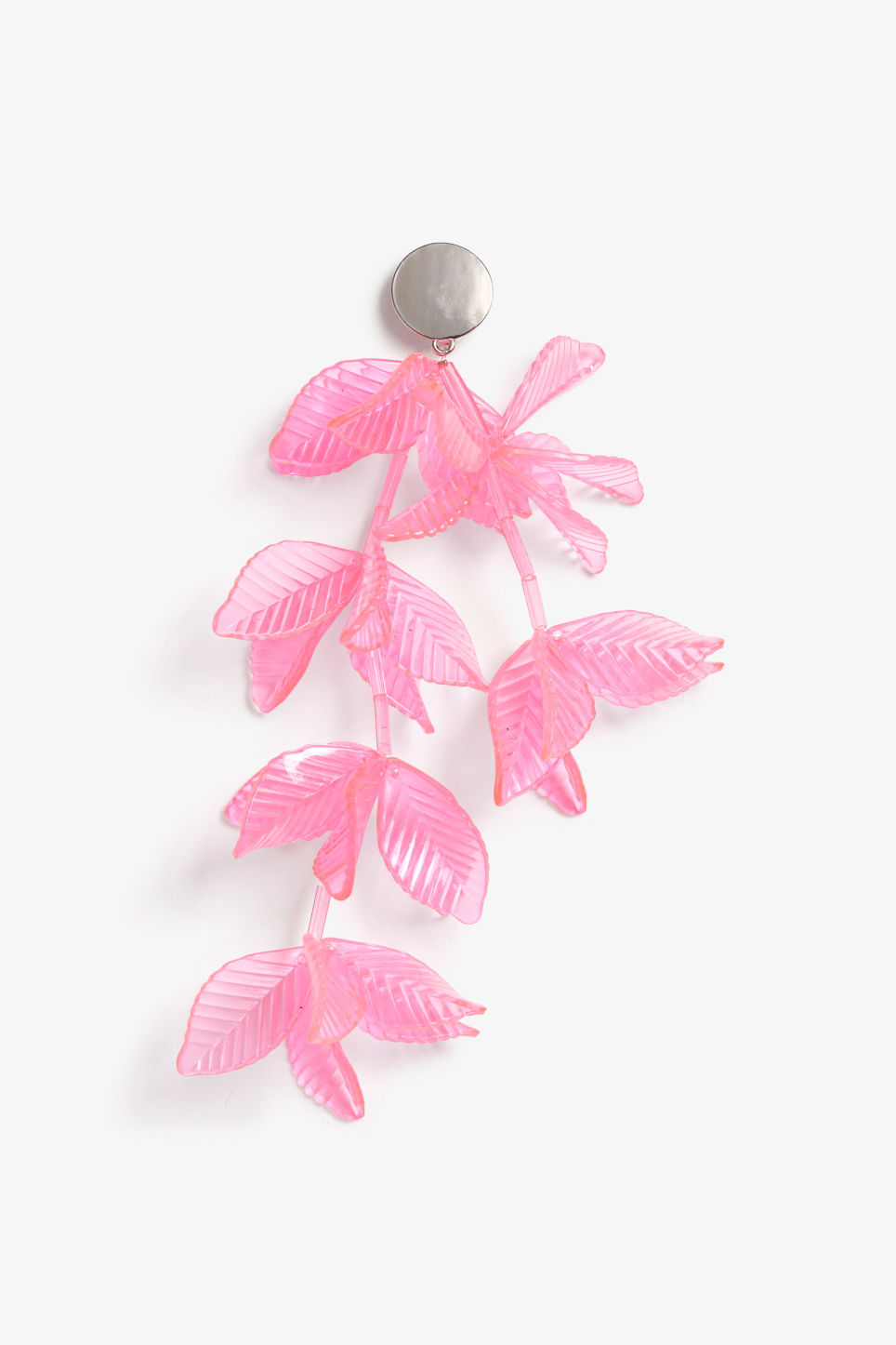 Front image of Monki clip-on earring in pink