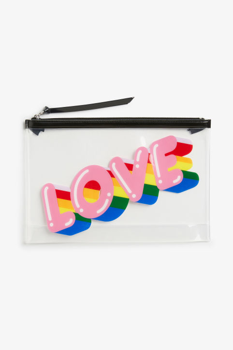 LOVE-ly clear zip case