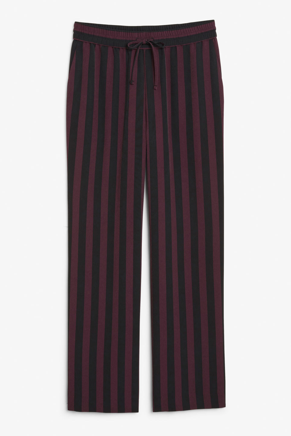 Front image of Monki dressy trousers in red