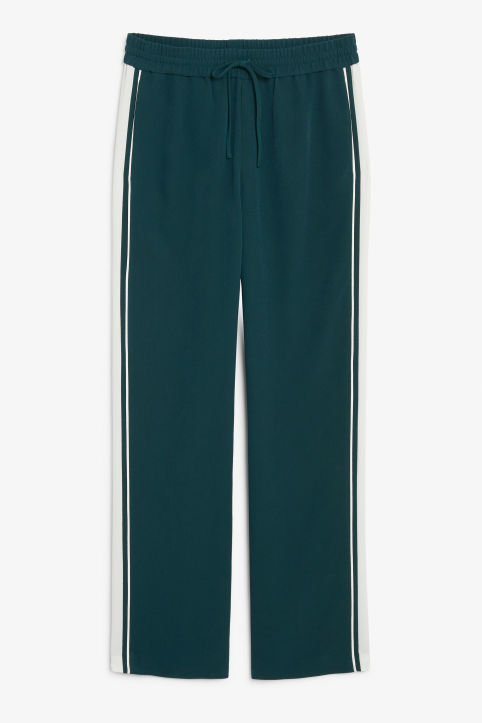 Front image of Monki dressy trousers in green