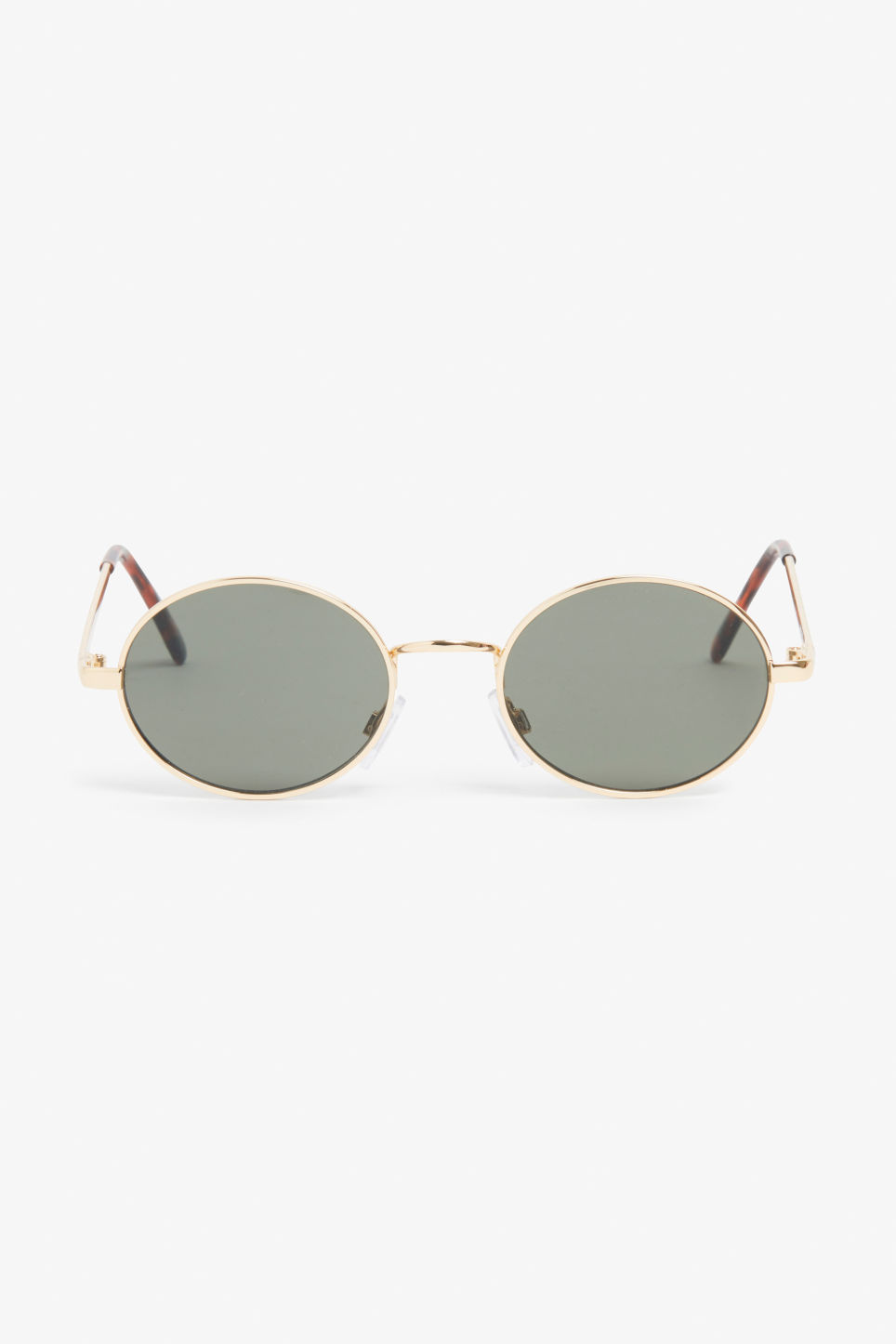 Front image of Monki round lense sunglasses in gold