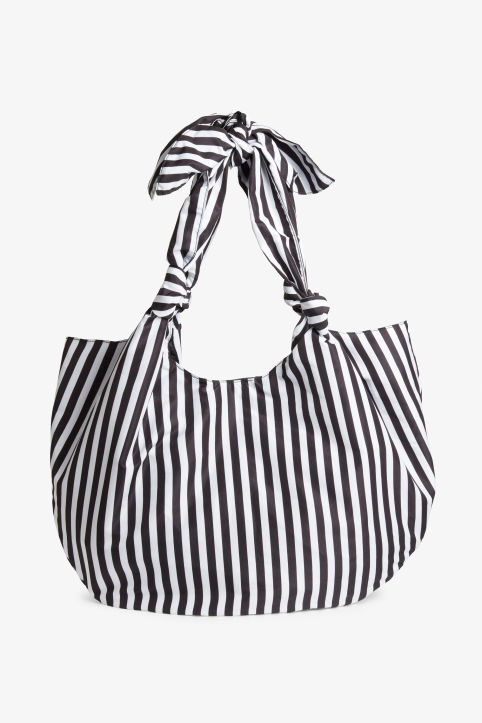 Front image of Monki beach bag in black