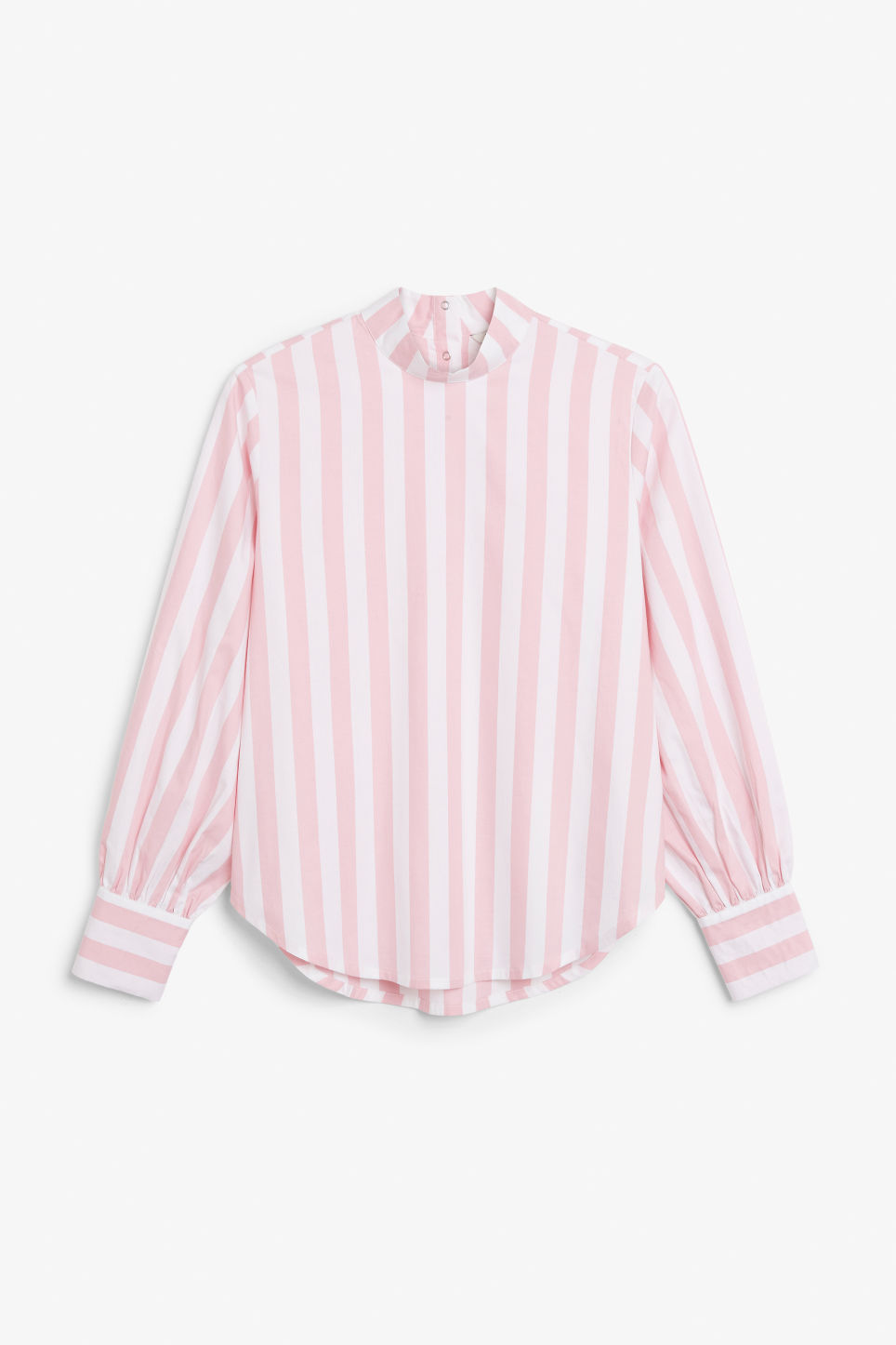 Front image of Monki high-necked blouse in pink