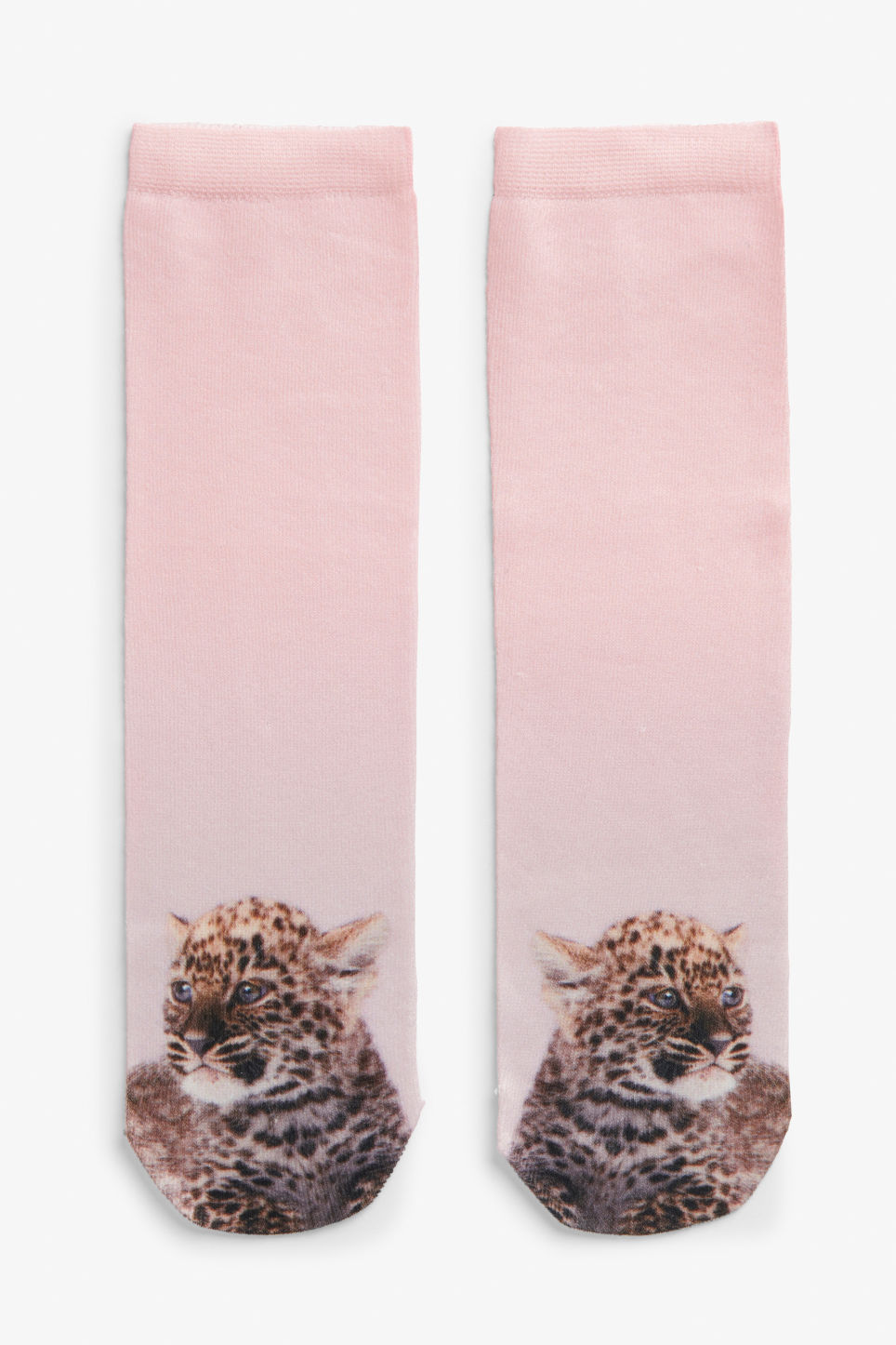 Front image of Monki leo socks in pink