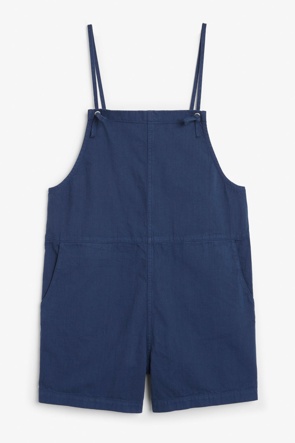 Front image of Monki denim playsuit in blue