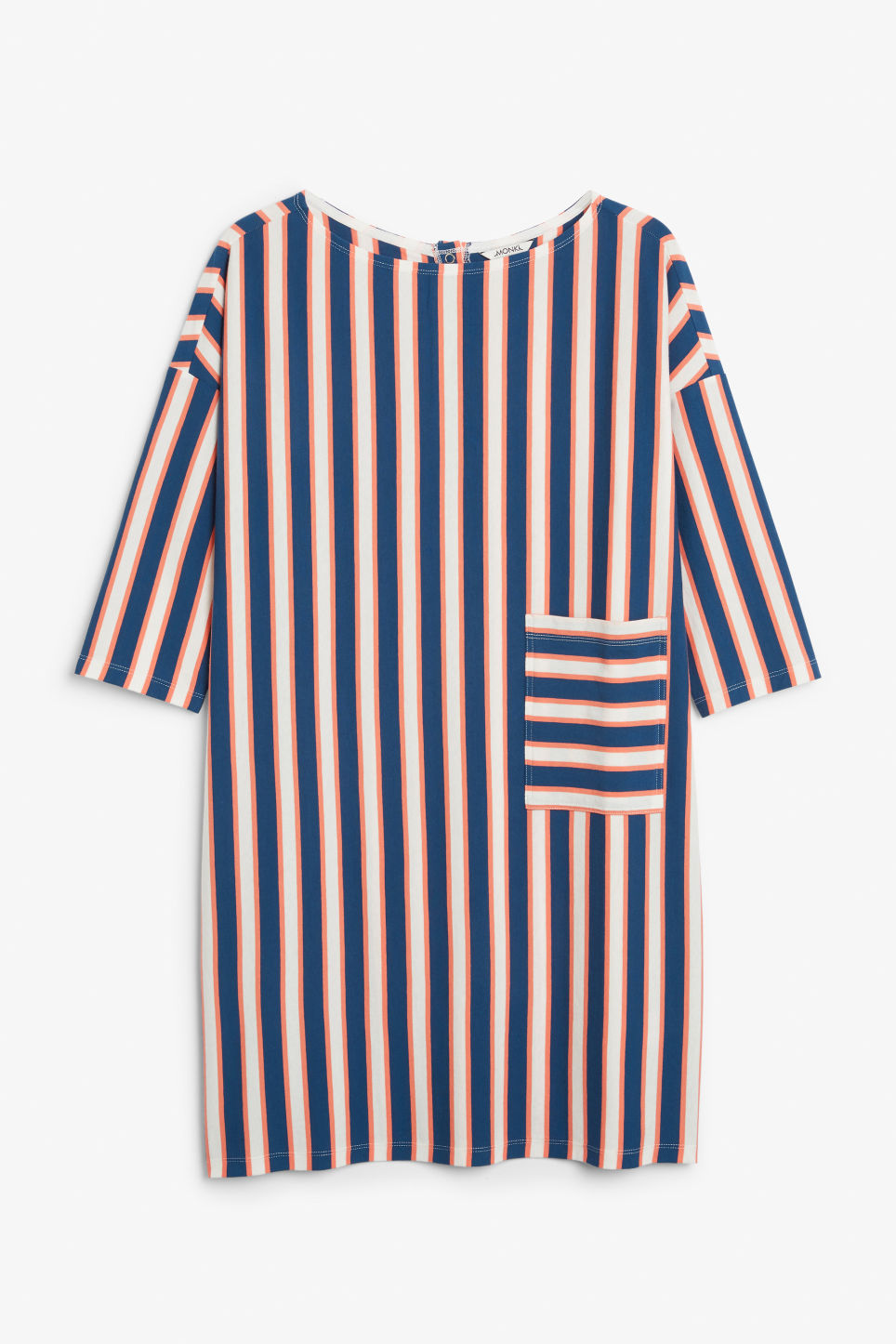 Front image of Monki oversized dress in blue