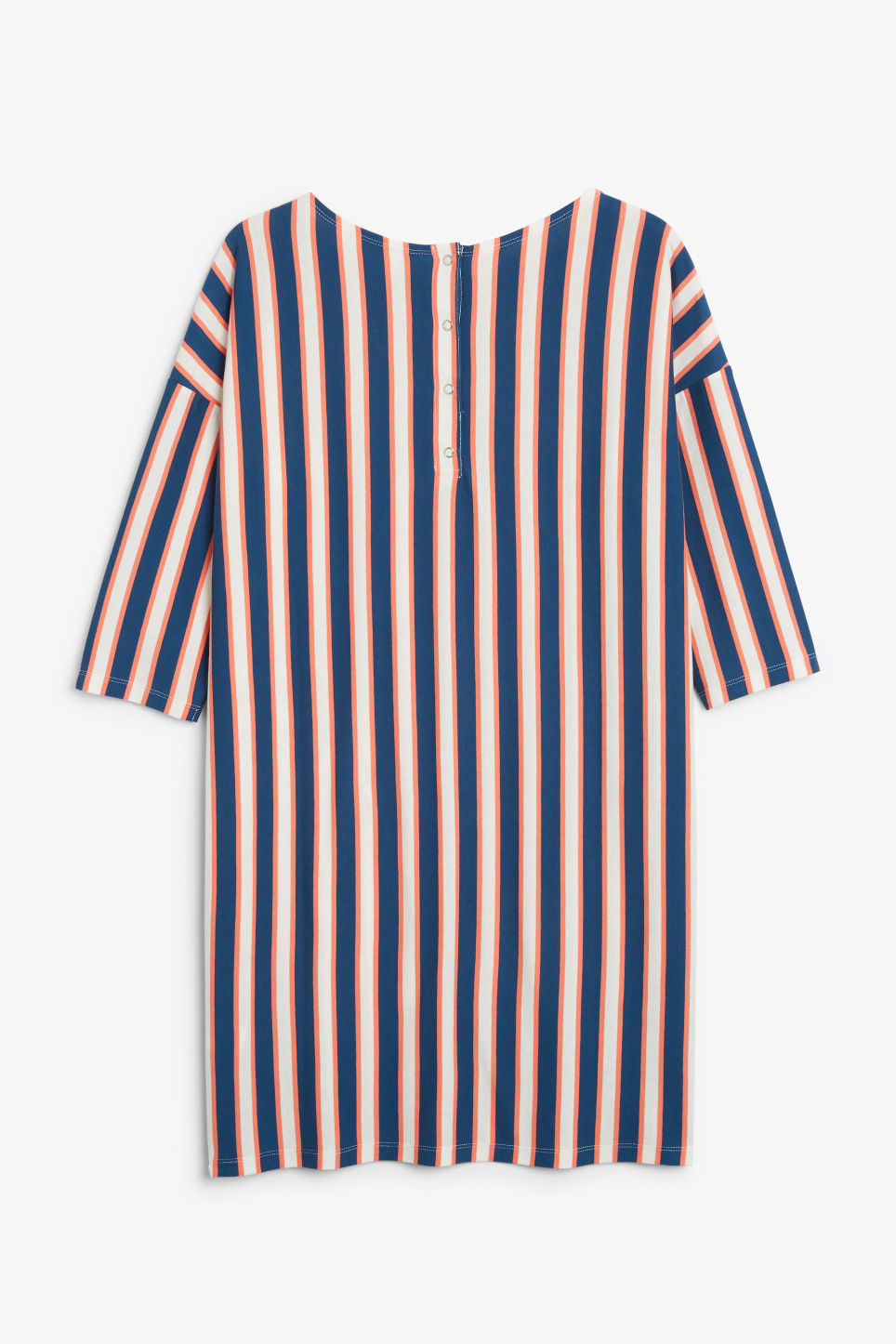 Back image of Monki oversized dress in blue