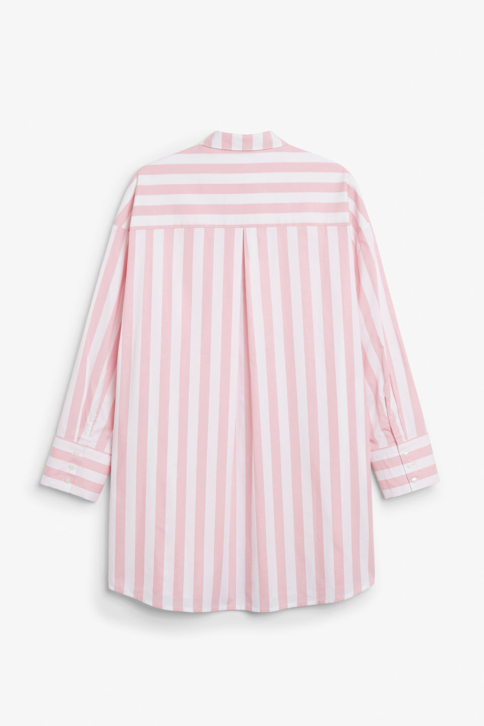 Back image of Monki oversized shirt dress in pink