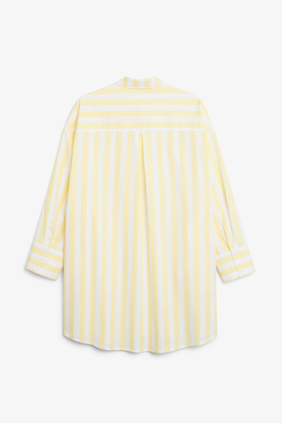 Back image of Monki oversized shirt dress in yellow