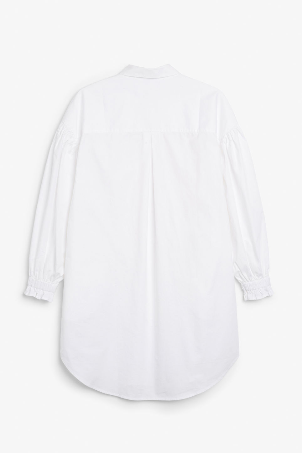 Back image of Monki oversized shirt dress in white