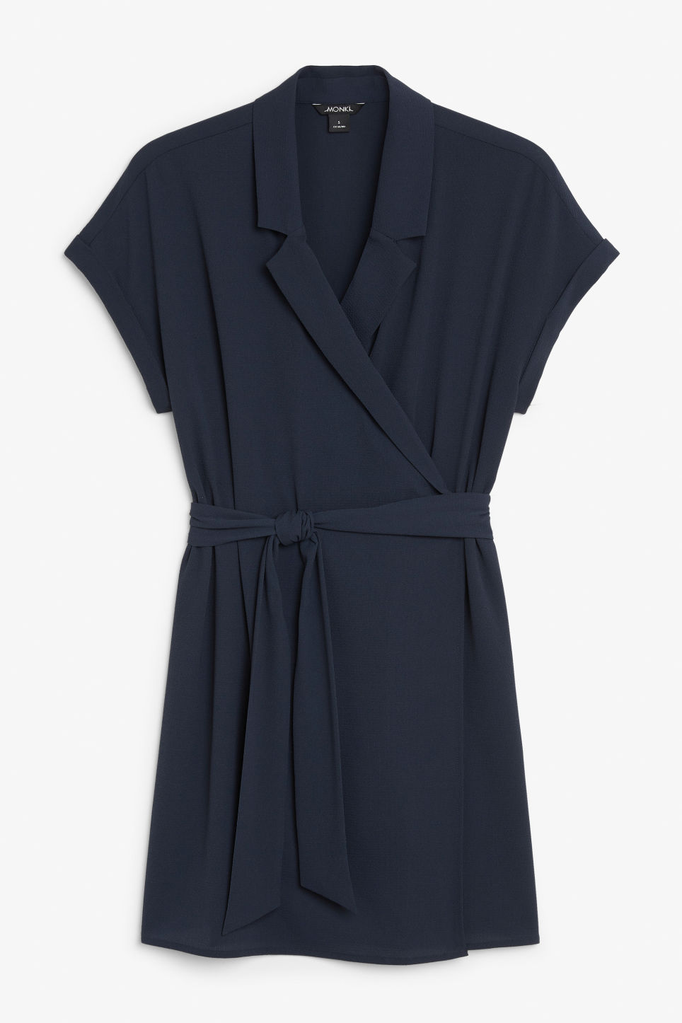 Front image of Monki flowy wrap dress in blue