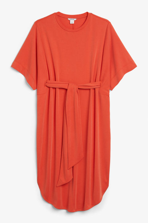 Super-soft belted kaftan dress