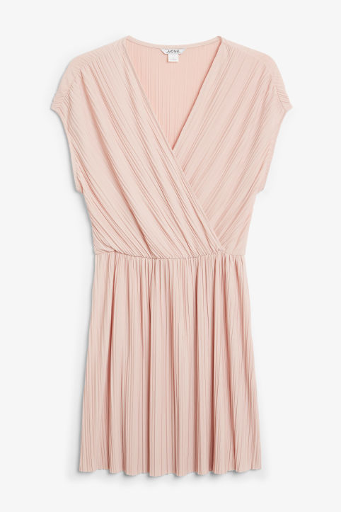 Pleated wrap dress