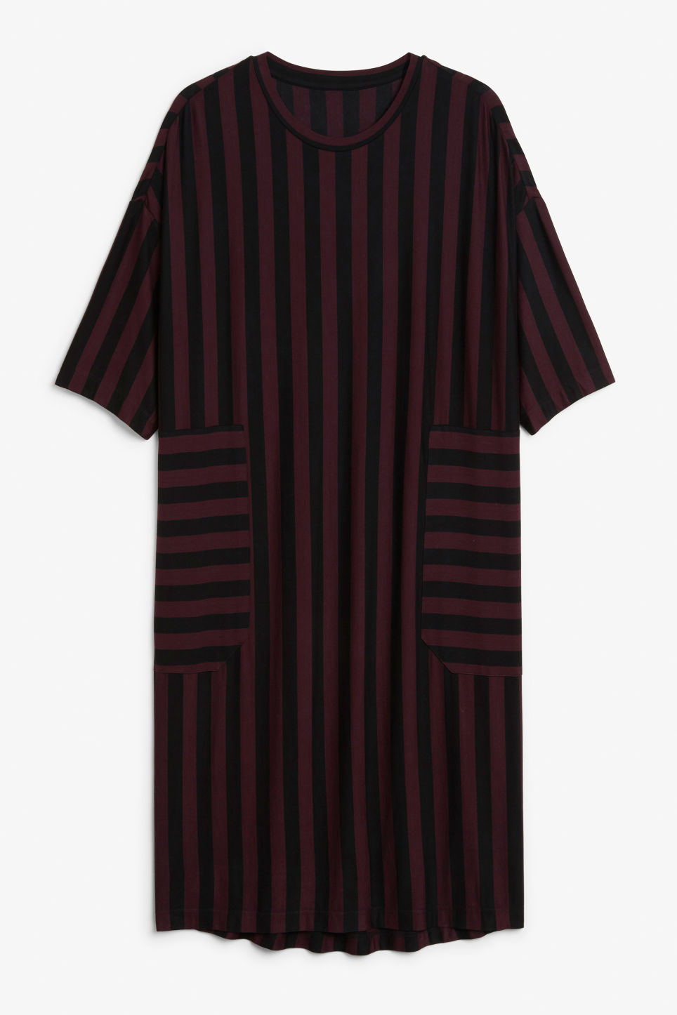 Front image of Monki oversized t-shirt dress in red