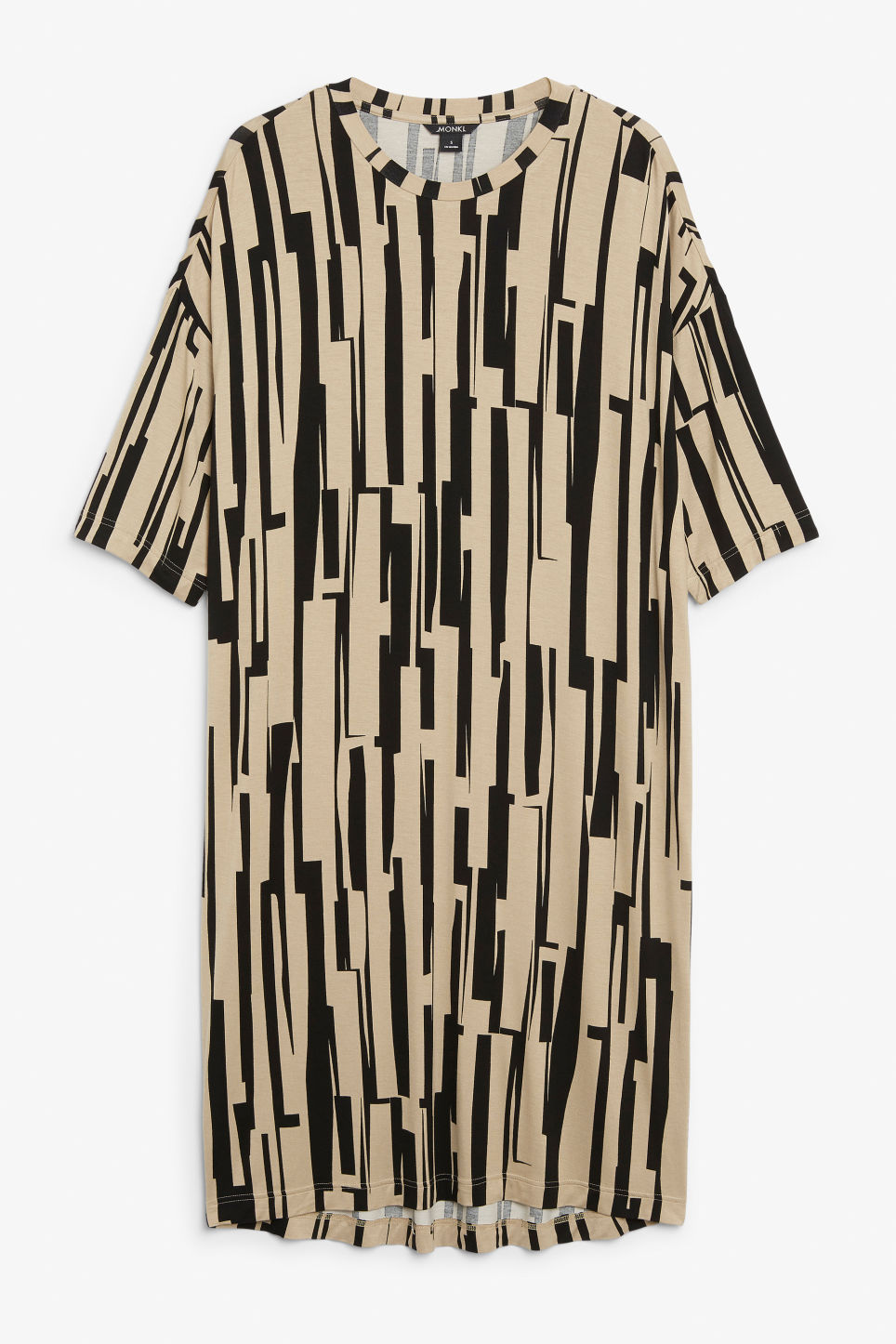 Front image of Monki oversized t-shirt dress in beige