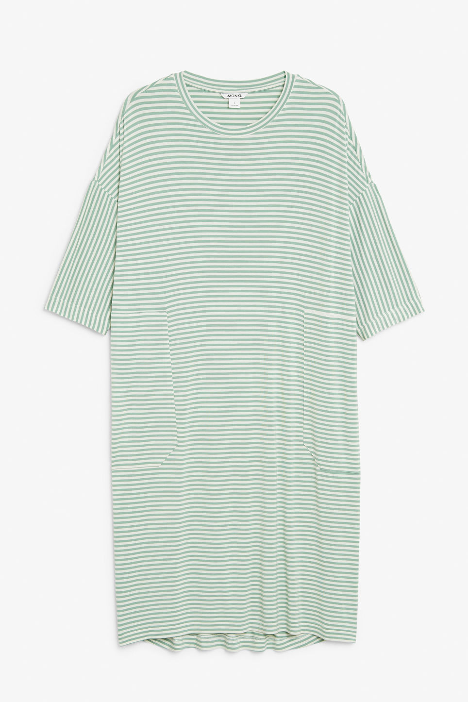 Front image of Monki oversized t-shirt dress in green