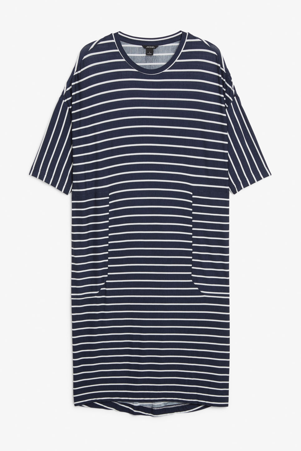 Front image of Monki oversized t-shirt dress in blue