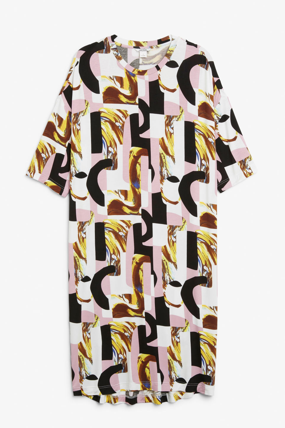 Front image of Monki oversized t-shirt dress in pink