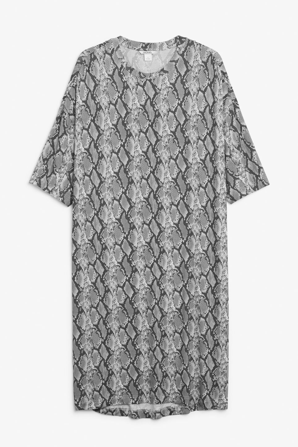 Front image of Monki oversized t-shirt dress in white
