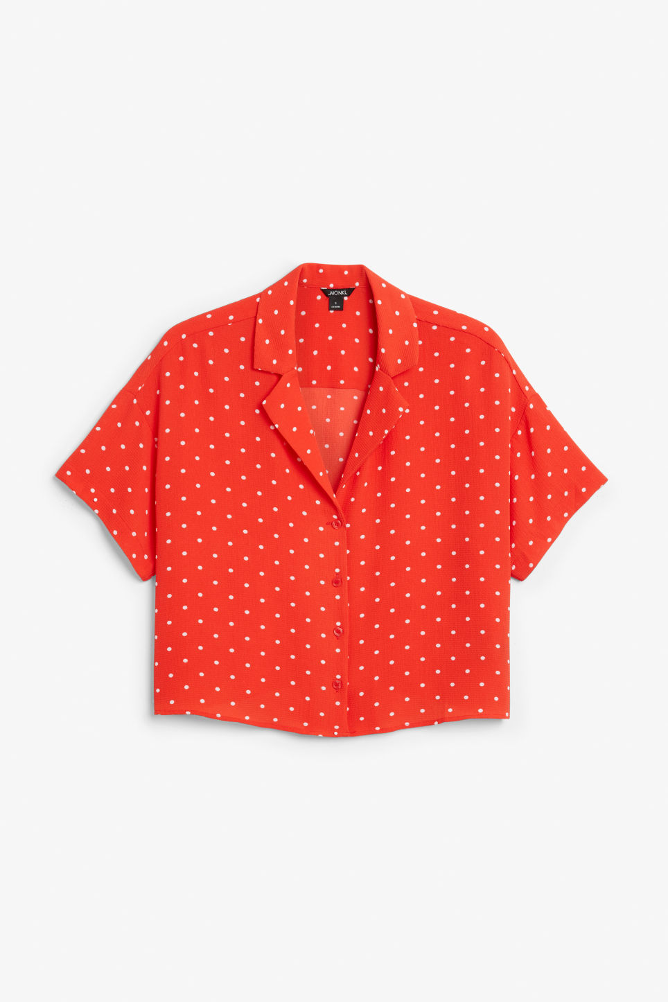 Front image of Monki short-sleeved blouse in red