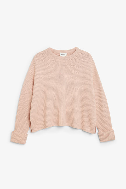 Front image of Monki knit sweater in orange